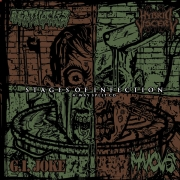 AGATHOCLES / HYBRID VISCERY / G.I.JOKE / MUCUS - 4 way split CD - Stages of Infection