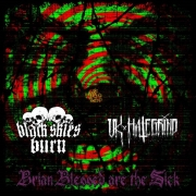 BLACK SKIES BURN / UK HATE GRIND - split CD - Brian Blessed Are The Sick