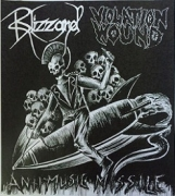 BLIZZARD / VIOLATION WOUND - split 7'' EP -  Antimusic Missile