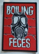 BOILING FECES - red woven Patch