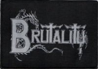 BRUTALITY - Logo - Woven Patch