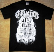 CARNATION - Black-White - T-Shirt - Size S