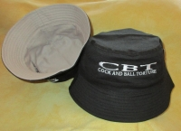 COCK AND BALL TORTURE - Reversible Bucket Hat - Black/Light Grey - SIZE L/XL