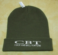 COCK AND BALL TORTURE - Original Cuffed Beanie - Army Green