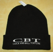 COCK AND BALL TORTURE - Original Cuffed Beanie - Black