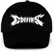 COFFINS - Embroidered white logo Baseball Cap