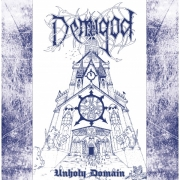 "DEMIGOD - 12"" LP - Unholy Domain (Blue Cover / WhiteBlue color Vinyl) 1st Press"