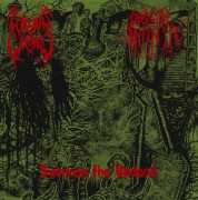 """FUNERAL WHORE / OBSCURE INFINITY - split 7"""" EP - RED VINYL"""