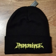 HAEMORRHAGE - yellow Logo - original cuffed Beanie