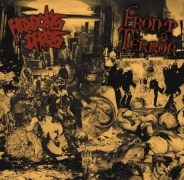 HIDEOUS CHAOS / FRONT TERROR (pre-Dead Infection) - split 12'' LP -
