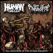 HUMAN GRINDER / SON OF PARASITE - split CD - Ill Creations of the Human Parasite
