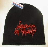 LAST DAYS OF HUMANITY - Black Beanie - Red Logo