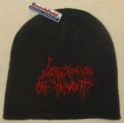 LAST DAYS OF HUMANITY - Grey Beanie - Red Logo