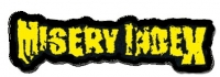 MISERY INDEX - Logo - Embroidered cutted Patch