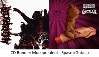 "BUNDLE: MUCUPURULENT ""Drenched In Blood"" + SPASM / GUTALAX - split CD -"