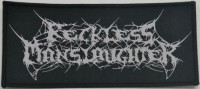 free at 25€+ orders: RECKLESS MANSLAUGHTER - Logo - Woven Patch