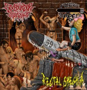 free at 25€+ orders: RECTAL SMEGMA / PUSSY TORPEDO / SIXPOUNDER TERATOMA -split CD-