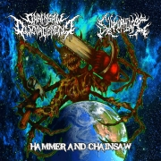 SLAMOPHILIAC / CHAINSAW DISGORGEMENT - split CD - Hammer and Chainsaw