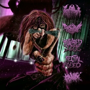 V/A: 5way split CD - RECTAL WENCH / GONORREA / MENSTRUAL COCKTAIL / MUTILATED JUGDE / RECTAL RODEO
