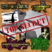 V/A: TOP SECRET  4 WAY SPLIR - CDr - w. Crocodile / Caveman Attack / เวิร์มจากใจกลางโลก WxFxTxExC -