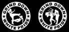 GRIND DOWN WHITE PRIDE - Gedruckter Aufnäher
