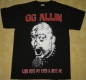 GG ALLIN - Look Into My Eyes - T-Shirt size XXL
