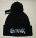 GUTALAX - Beechfield Pom Pom Beanie black - white Logo