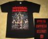 INTERNAL BLEEDING - Patterns Of Force - RED Logo - T-Shirt - Größe XL