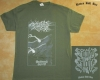 NO ONE GETS OUT ALIVE - Backwoods Spirit - vintage army green T-Shirt size XL