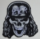 SLAYER - Wehrmacht Skull Cut Out - woven Patch