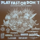 "V/A: PLAY FAST OR DON'T -12"" LP- Czech Extreme HC Grind Fastcore Compilation  (brown splatter Vinyl)"