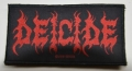 DEICIDE - red Logo - woven patch